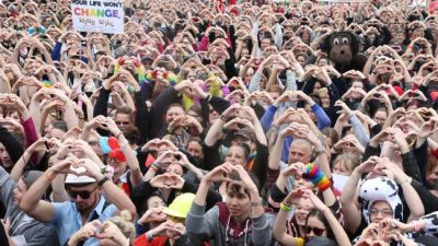 Crowd Supporting Marriage Equality